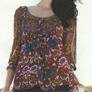 Anthropologie Viola Peggy's Cove Printed Top
